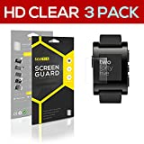 SOJITEK PEBBLE 301BLR, 301RD, 301WH Premium Ultra Crystal High Definition (HD) Clear Screen Protector [3-Pack] - Lifetime Replacements Warranty + Retail Packaging