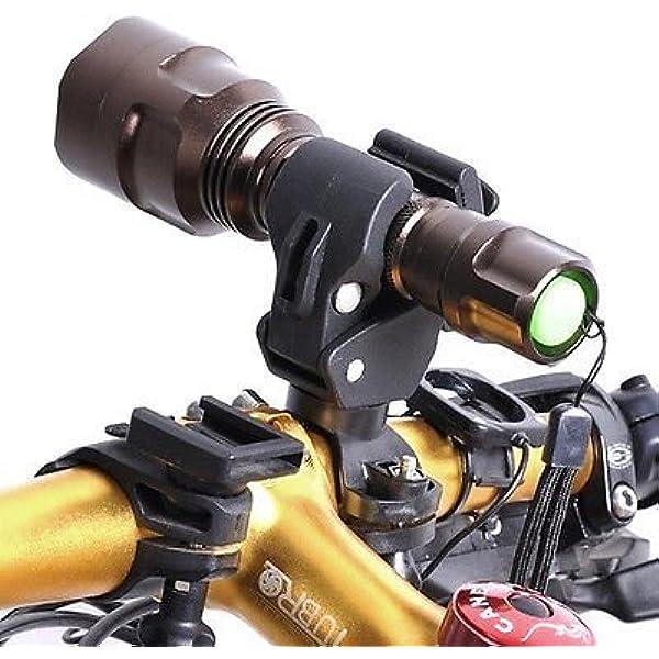 WZYuan Universal Bike Bicycle Flashlight Lamp Mount Clamp Stand Holder