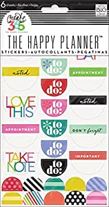 """me & my BIG ideas Create 365 The Happy Planner Brights """"To Do"""" Stickers, 6 Sheets"""