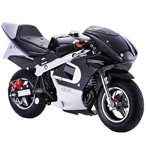 Pocket Bike Mini Motorcycle 4 Stroke Gas Power (Black) Mini Motorcycles For Kids