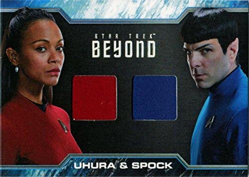 Star Trek Beyond DC2 Dual Costume Relic Card Uhura and Spock ()