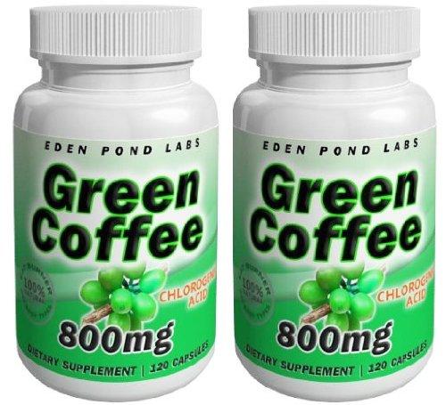 Eden Pond Wonder Fat Burner Green Coffee Capsules, 800 mg,