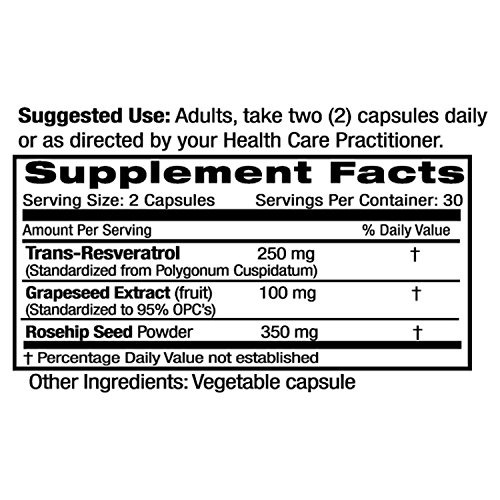 Amazon.com: Resveratrol - 250 mg Hi-Potency - Helps Stimulate Heart Health, Promotes Good Circulation, & Improves Blood Sugar Health - Emerald Laboratories ...