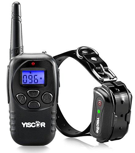 YISCOR Bark Control Collar Dog Training Collar Waterproof Remote Dog Shock Collar With Beep, Vibration and Shock Electronic Collar