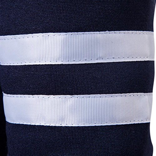 a patchwork Large uomo Casual Camicetta di da puro Top Felpa Abbigliamento Navy Sweatshirt Top Size Outwear Fashion M con 2xl lunghe autunno colore maniche Camicia Adeshop Tee Slim Chic qvtw0Sv