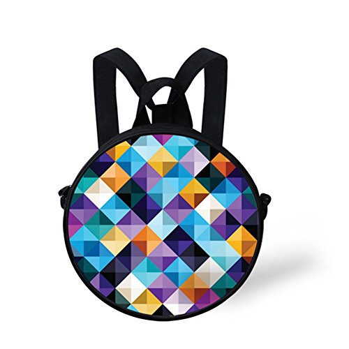 Girls Print FancyPrint for Circle Round Bag Dfgd0571i Animals Backpack 55wY0