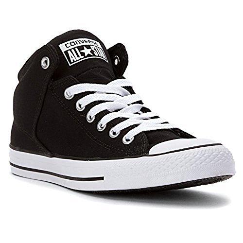 Converse Unisex Chuck Taylor All Star High Street, Black/Black/White, - Mens High Street