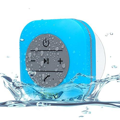 Wireless Bluetooth Shower Speaker , ZDW Outdoor 3.0 Waterproof Speakers with 3W Suction Cup Mic Hands-Free Speakerphone(Blue) ¡