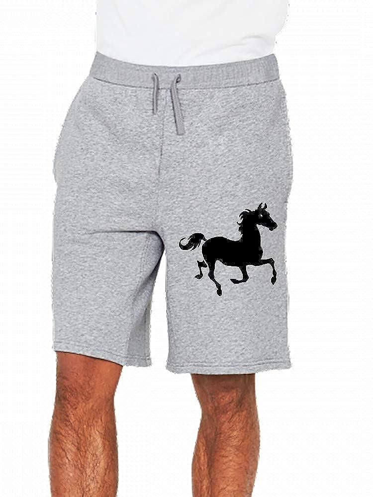 JiJingHeWang Trotting Horse Mens Casual Shorts Pants