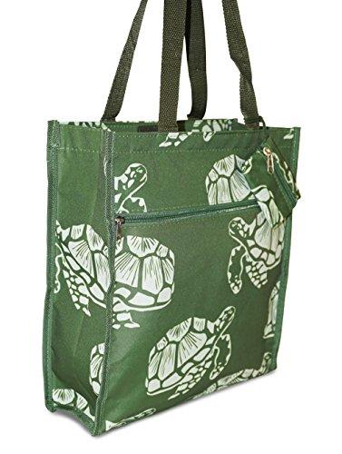 Turtle Women's Juniors Tote Bag Medium Green