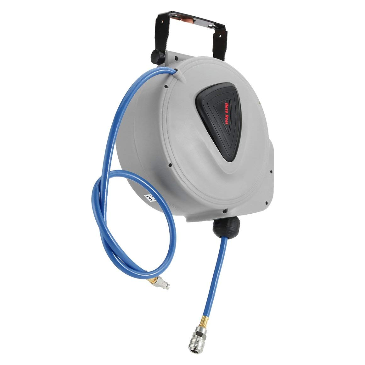 Funnyrunstore 180 grados rotativo manguera de aire comprimido carrete 10M resistente a los rayos UV 1/4 pulgada manguera automática carrete taller ...