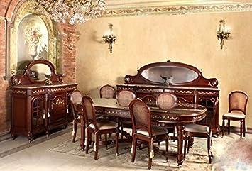 Credenza Con Vetrina Stile Inglese : Louisxv barocco sala da pranzo in stile antico replikat vetrina
