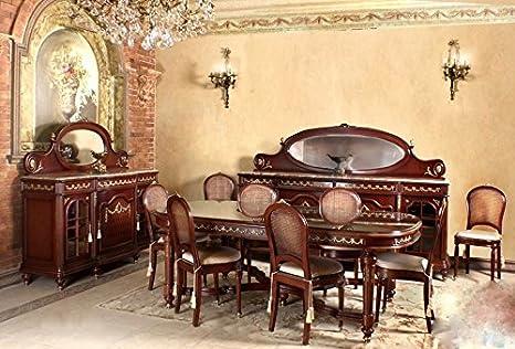 Credenza Con Vetrina Antica : Louisxv barocco sala da pranzo in stile antico replikat vetrina