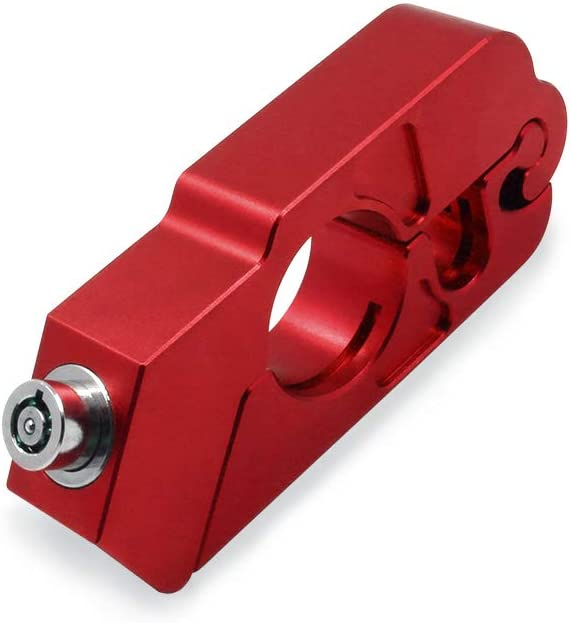 Blue Motorcycle Grip Lock Handlebar Throttle Security Lock Anti-Theft Scooters fit for ATV Motorcycles Dirt Street Bike