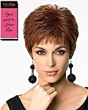 Textured Cut Capless Wig Color SS14/88 SHADED GOLDEN WHEAT - Hairdo Wigs Short Feathered Modern Tru2Life Heat Friendly Synthetic Wispy Bangs Bundle with MaxWigs Hairloss Booklet