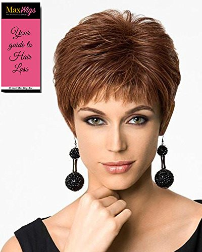 Textured Cut Capless Wig Color SS14/88 SHADED GOLDEN WHEAT - Hairdo Wigs Short Feathered Modern Tru2Life Heat Friendly Synthetic Wispy Bangs Bundle with MaxWigs Hairloss Booklet by Hairdo Maxwigs