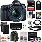 Canon EOS 5D Mark IV 4K Wi-Fi Digital SLR Camera & EF 24-70mm f/4L is USM Lens + 64GB SD Card + Battery & Charger + Backpack + 9 Filters + Strap Kit