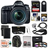 Canon EOS 5D Mark IV 4K Wi-Fi Digital SLR Camera & EF 24-70mm f/4L is USM Lens + 64GB SD Card + Battery & Charger + Backpack + 9 Filters + Strap Kit For Sale