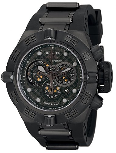 Invicta Mens 6582 Subaqua Noma IV Stainless Steel and Black Polyurethane Watch
