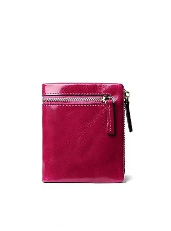 3d21f62e8d877 Sucastle Damen Leder Geldbörsen Portemonnaie Brieftasche RFID Schutz Große  Kapazität Vintage Design