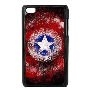 Captain Americ iPod Touch 4 Case Black DIY Ornaments xxy002-3681169