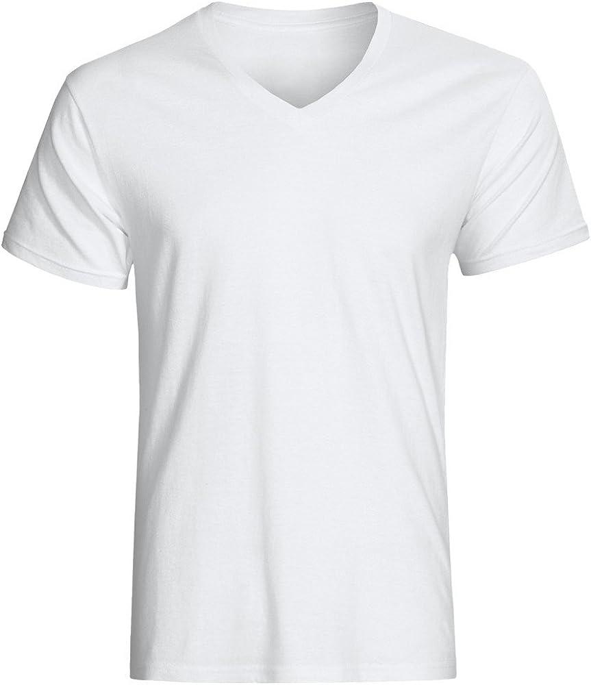 Christopher Hart Big /& Tall White V-Neck Undershirts