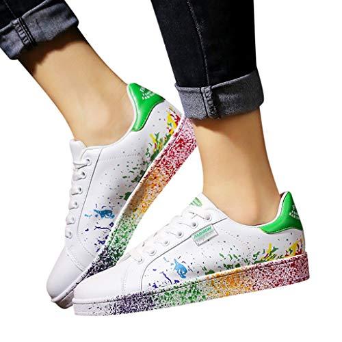 ℱLOVESOOℱ Women Men White Classic Plus Size Sneakers Fashion Slip On Sneaker Lightweight Flat Walking Runing Athletic Shoes