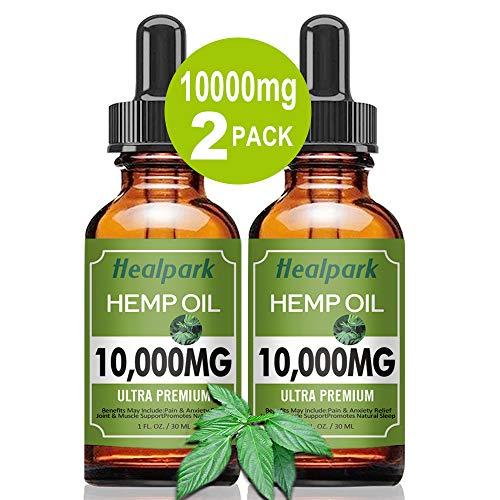 2-Pack-10000mg-Hemp-Oil-for-Relief-Pain-Stress-Natural-Organic-Hemp-Seed-Extract-Hemp-Drops-Rich-in-Vitamin-Omega-Zero-THC-CBD-Cannabidiol