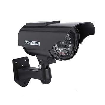 Cámara simulada para Interiores/Exteriores, cámara de Seguridad de Falso de cámara CCTV de Bala con LED Rojo Intermitente(Black): Amazon.es: Bricolaje y ...