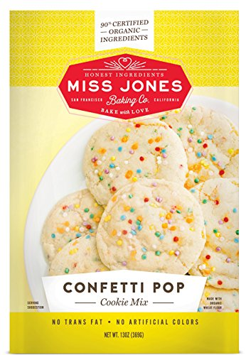 Miss Jones Baking 90% Organic Cookie Mix, Non-GMO, Vegan-Friendly, Perfect for Birthdays: Confetti Pop (Pack of 3)