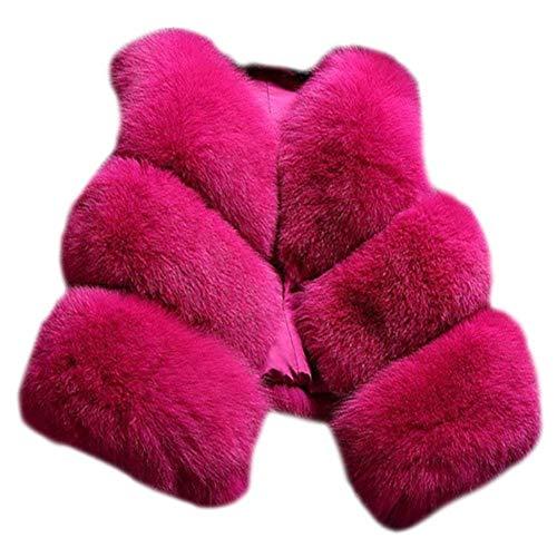 Chaud Elégante Manche Plush Manteau Sans Outerwear Femme Saoye Fashion Épaissir De Hiver Vêtements Uni Manches Art Courte Branché Fourrure Gilet Rose Jacken wqBSIaO