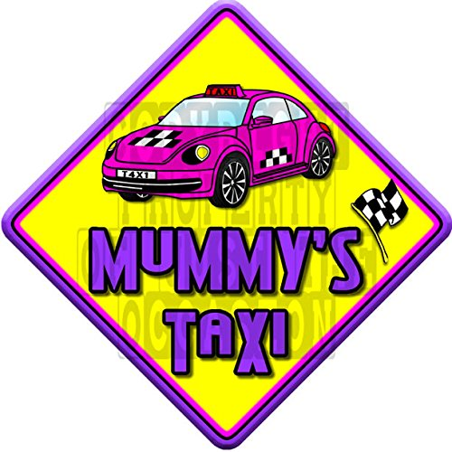 IMPACT MUMMYS TAXI non personalised novelty baby on board car window sign