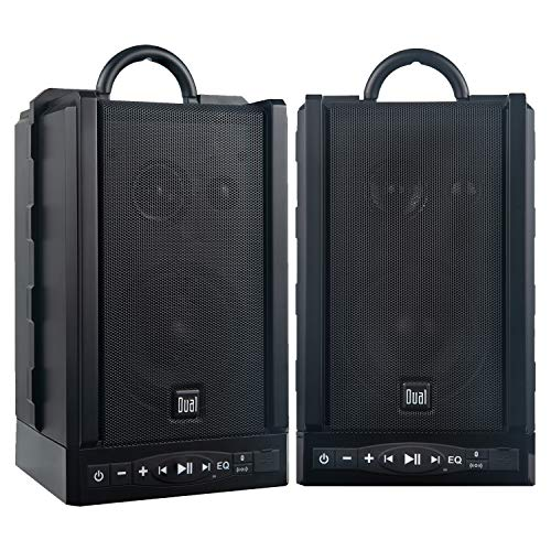 Dual Electronics LU48BTS Wireless Portable Bluetooth Speakers | TruWireless Stereo | 100ft Wireless Range | Loud & Deep Rich Bass | 12 Hour Playtime | IPX4 | No Wires Needed | Sold in Pairs ()