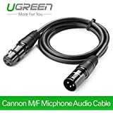 UGREEN Balanced XLR 3 Pin Cannon Male Female Extension Cable Microphone Mixer - 2m