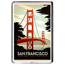 B465 SAN FRANCISCO USA FRIDGE MAGNET USA VINTAGE TRAVEL PHOTO REFRIGERATOR MAGNET