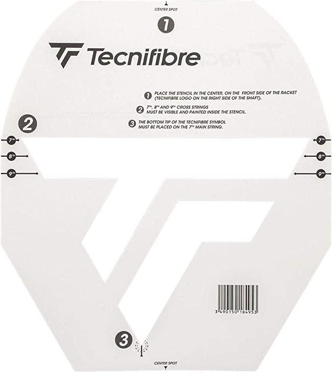 TECNIFIBRE Schablone Karte für Tennis
