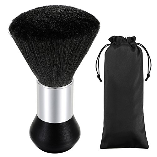 Professional Barber Large Neck Duster Soft Cleaning Hairbrush Hair Sweep Brush Hair Styling Tool Black