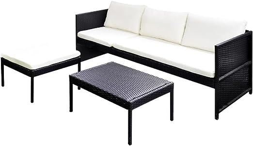 Nishore Conjunto Muebles de Jardín 9 Piezas con Mesa de Centro ...