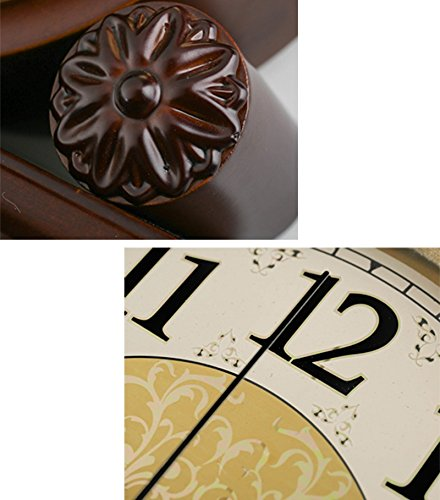 HAOFAY Solid Wood Battery Operation, No Ticking, Shelf Clock Chronograph Clock 9'' × 10.2'' × 3.5'' , Maroon ( Color : Not timekeeping ) by CLOCK (Image #4)
