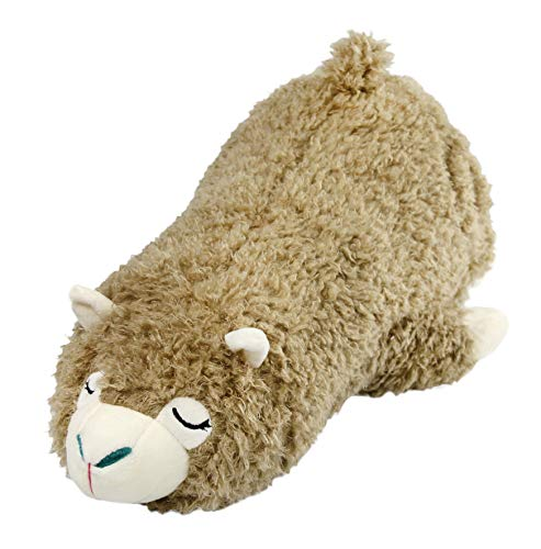 Athoinsu Stuffed Alpaca Throw Pillow Floppy Llama Plush Toy Cushion Kids' Children's Day, Gray, 17 .5''