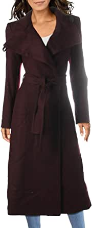 Kenneth Cole New York Women's Full Length Button Fencer Coat with Belt