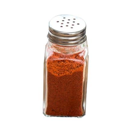 Sunlera Botellas de Cristal 3pcs Cocina Pequeño condimento Concisa Tanque Sellado de Sal de Chile en