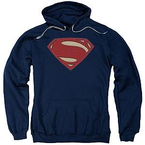 Trevco Men's Batman V Superman Super Movie Logo Adult Pull-Over Hoodie at Gotham City Store