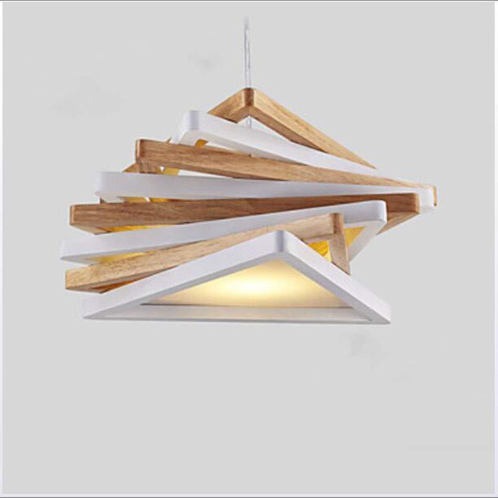 Colgantes Luz Lámparas Downlight Mini Maderabambú Madera Geométrico Y6mI7vbfgy