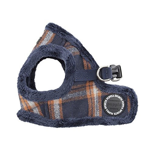 Puppia Kemp Harness-B for Pets, Navy, Small