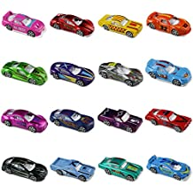 Race Car Metal Diecast Toys Model Cars Vehicle Set Collection Gift for Boys Girls Kids 16pcs