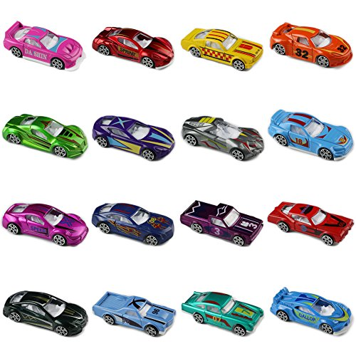 Diecast Metal Toy Car (Race Car Metal Diecast Toys Model Cars Vehicle Set Collection Gift for Boys Girls Kids 16pcs)