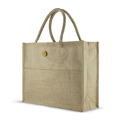 jute-grocery-shopping-bag-with-button-closure-front-pocket-laminated-interior-and-cotton-handles-by-
