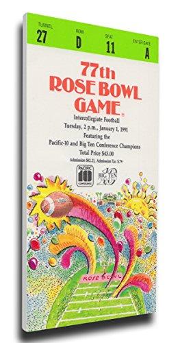 NCAA Washington Huskies 1991 Rose Bowl Mega Ticket (Washington Rose Bowl Huskies)