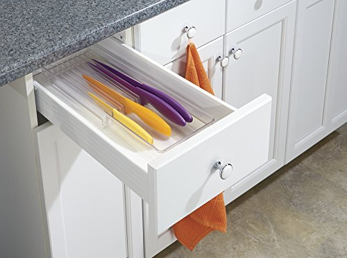 mDesign Kitchen Knife Drawer Organizer - Clear by mDesign (Image #2)